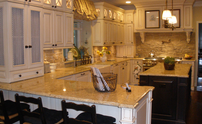 White pearl granite looks similar to marble but without the pitfalls of